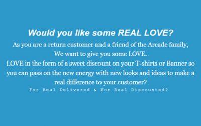 Arcade Screen Print LOVE